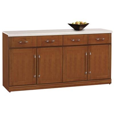 時尚屋楓原彰木色5.3尺石面碗碟櫃