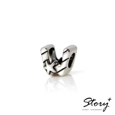 STORY故事銀飾-串珠墜飾-字母珠 W