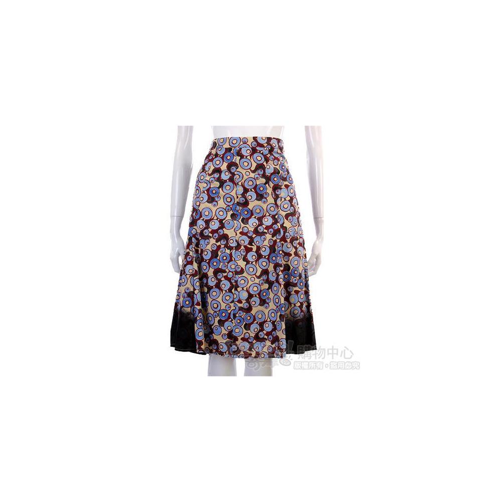 PHILOSOPHY-AF 藍色圈圈圖案及膝裙