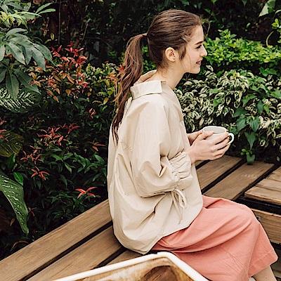 CACO-荷葉袖開襟上衣(兩色)-女【PSH032】