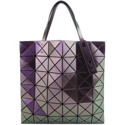 ISSEY MIYAKE 三宅一生BAOBAO金屬炫彩6X6手提包手提包(紫)