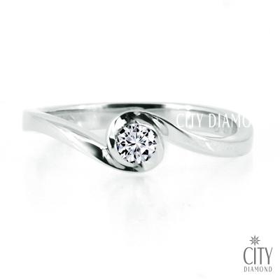 City Diamond『白色戀人』9分鑽戒