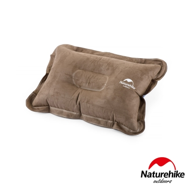 Naturehike 輕量便攜折疊式麂皮絨充氣枕 棕色-急