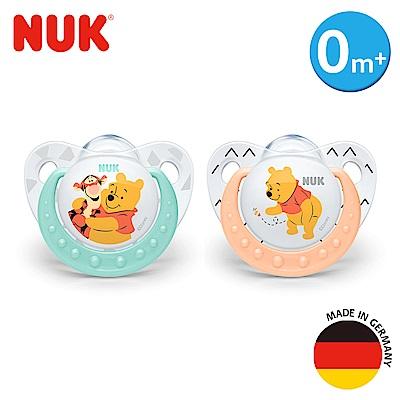 NUK迪士尼安睡型矽膠安撫奶嘴-初生型0m+1入(顏色隨機出貨)