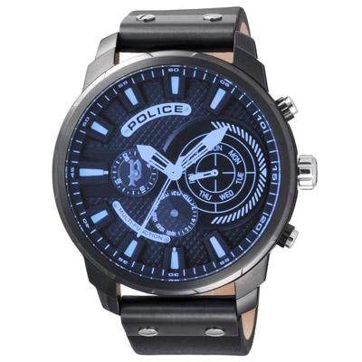 POLICE  科學核爆時尚三眼腕錶-15217JSU-02-50mm