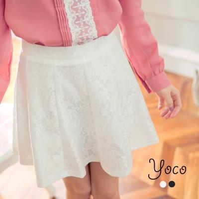 東京著衣-yoco 優雅氣質蕾絲傘襬短裙-S.M.L(共二色)