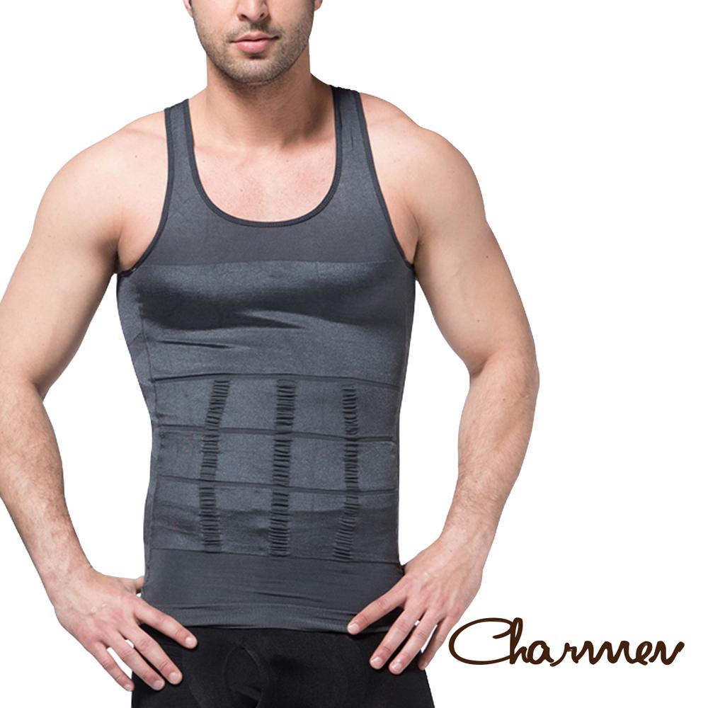 男性機能塑身衣 坦克加壓版背心 灰色 Charmen