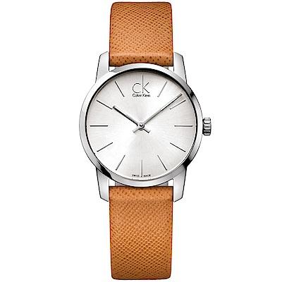 Calvin Klein 摩登時尚品味石英女錶(K2G23120)-銀色/31mm