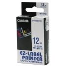 CASIO XR-12WEB1白底藍字標籤帶12mm×8M