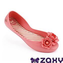 Zaxy 巴西 女 浪漫花季平底娃娃鞋-粉紅色
