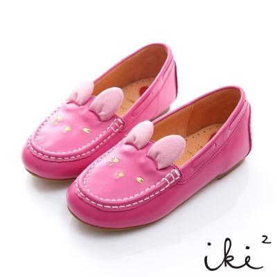 iki2童鞋-咕妮兔冒險系列眨眼百搭懶人鞋-可愛桃