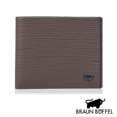 BRAUN BUFFEL - 史拜德先生系列六卡透明窗短夾 - 咖啡色