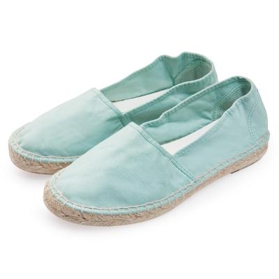 (女)Natural World 西班牙休閒鞋 麻邊素色款*薄荷綠