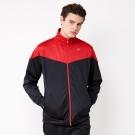 FIVE UP-時尚撞色休閒立領運動外套-黑紅
