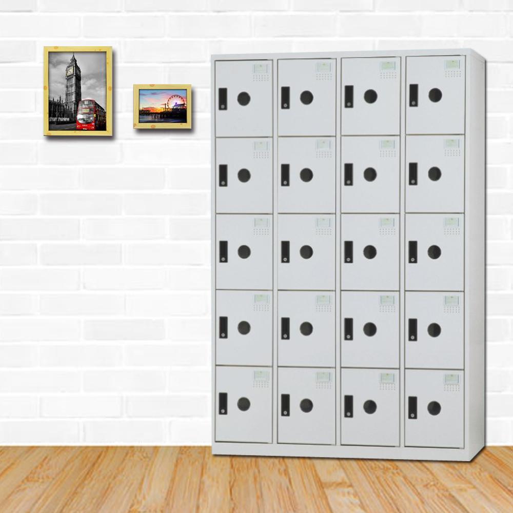 時尚屋 克里門多用途塑鋼製20格置物櫃 寬119x深40x高180cm