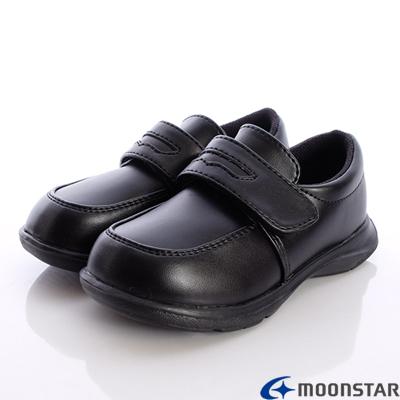 日本Carrot機能童鞋-私校正式黑皮鞋款-C20926黑(中小童段)