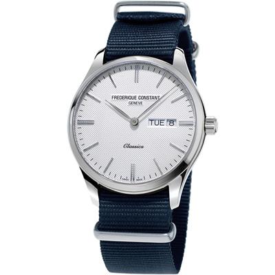 康斯登Classics Quartz 百年經典Day-Date腕錶-40mm/白X藍