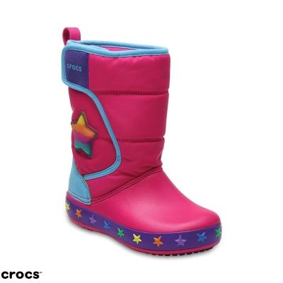 Crocs 卡駱馳 (童鞋) 圖案雪地洛基靴 204723-911
