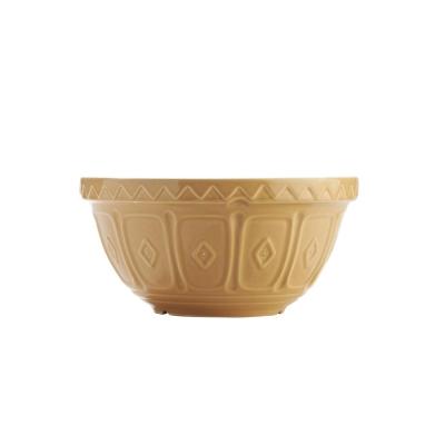MASON浮雕陶瓷調理盆21CM黃