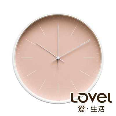 LOVEL 30cm 北歐簡約金屬框靜音時鐘-共5款