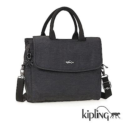 Kipling 手提包 紋路質感深咖-中