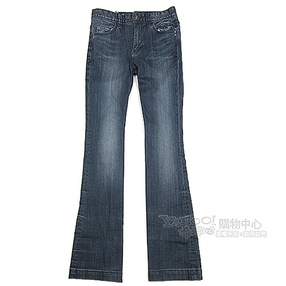 A│X Armani Exchange 刷白大喇叭女牛仔褲(深藍)