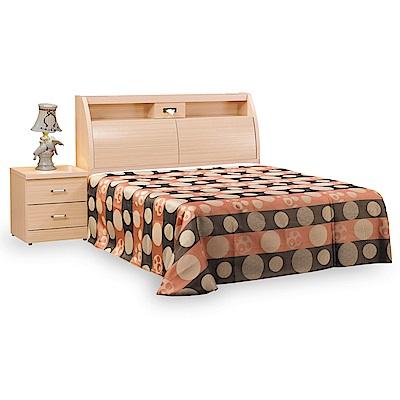 時尚屋 菲利普白橡5尺雙人床台(不含床頭櫃-床墊)