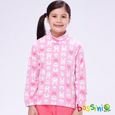 bossini女童-刷毛半高領衫11嫩粉