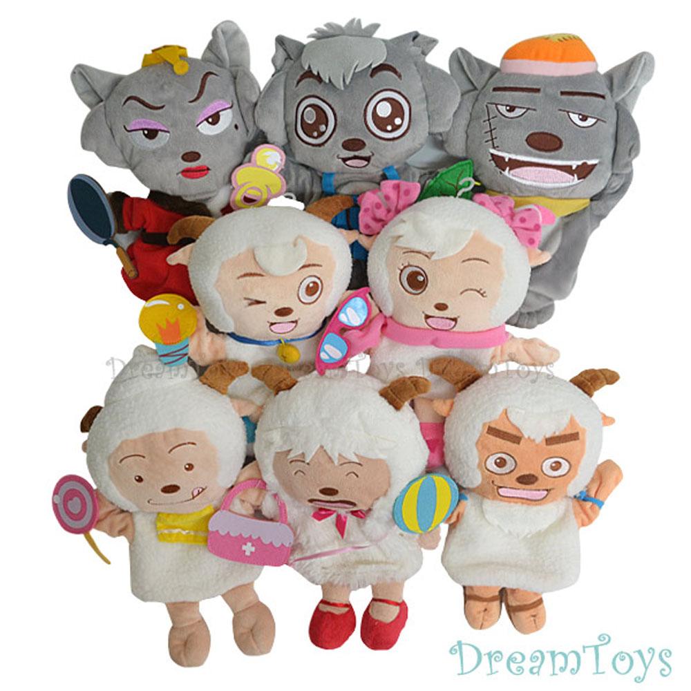 《凡太奇》台灣製造【喜羊羊與灰太狼】卡通人物系列手偶-共8款隨機出貨
