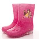 瑪莎與熊童鞋 印花電燈雨鞋款 SE4805桃(中小童段)T