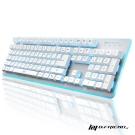 B.Friend GK3 遊戲發光有線鍵盤(七色背光可選)-白
