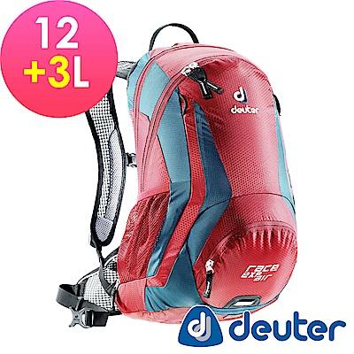 【ATUNAS 歐都納】德國DEUTER自行車網架背包/運動登山背包32133漿果紅深藍