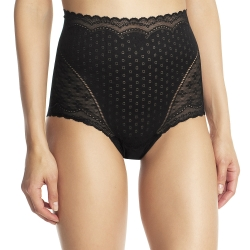 法國DIM-「纖雕魔塑」高腰蕾絲提臀褲
