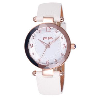 Folli Follie 獨寵典雅愛戀晶鑽腕錶-WF14R023SSS-WH/35mm