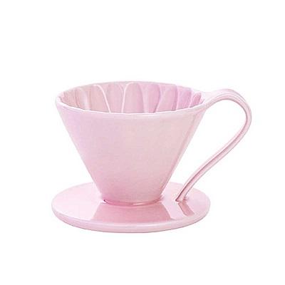 日本三洋CAFEC CFD-1葵花陶瓷咖啡濾器(小)附量匙-四色