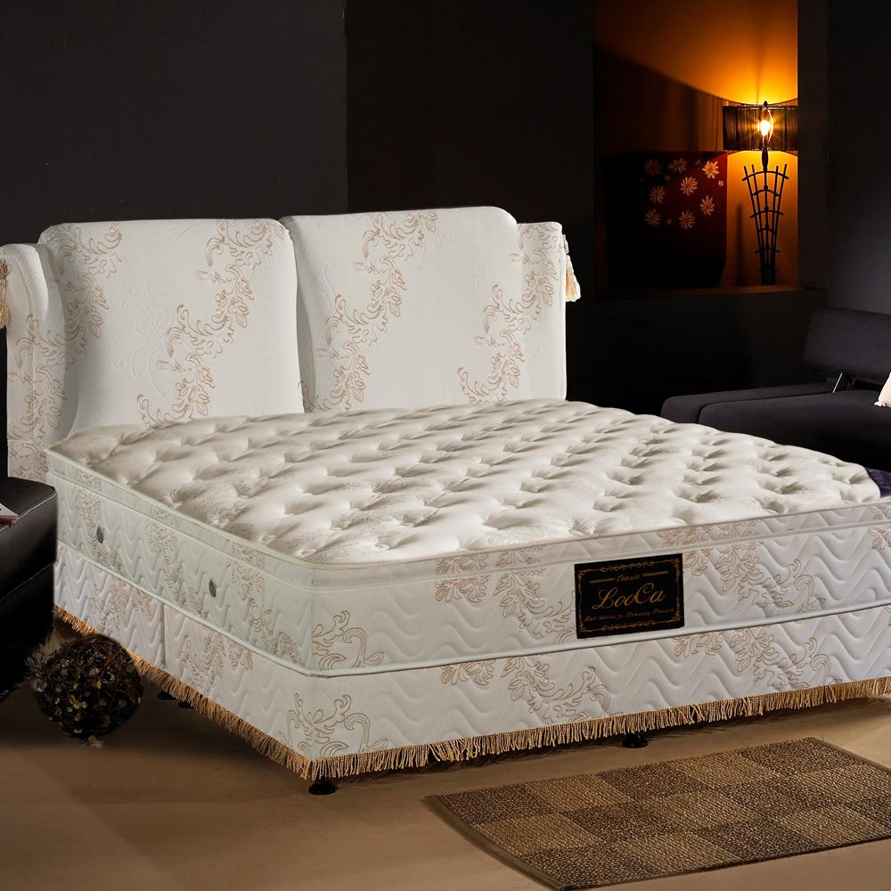 LooCa 舒眠皇妃乳膠獨立筒床枕四件組(單人床墊)