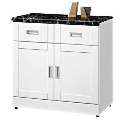時尚屋 艾菲爾2.7尺石面餐櫃可選色