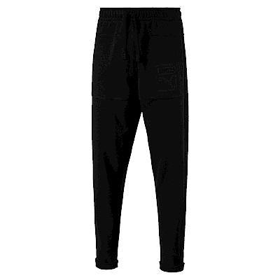 PUMA-男性流行系列時尚棉質長褲-黑色-亞規