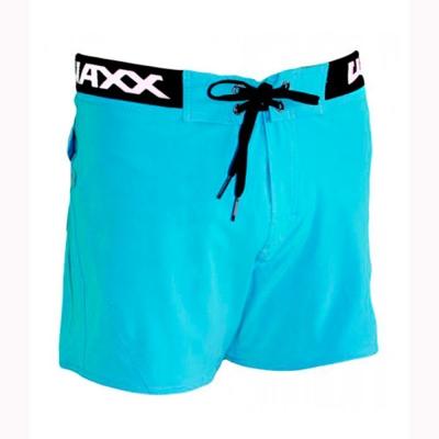 WAXX 螢光藍基本款 高質感吸濕排汗男性海灘短褲