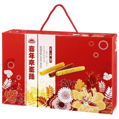 喜年來 綜合蛋捲新富貴禮盒(384g)