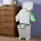 創意達人直立腳踏式分類垃圾桶-40L