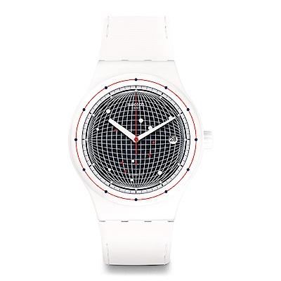 Swatch 51號星球機械錶 SISTEM PLANET 白色迷航手錶