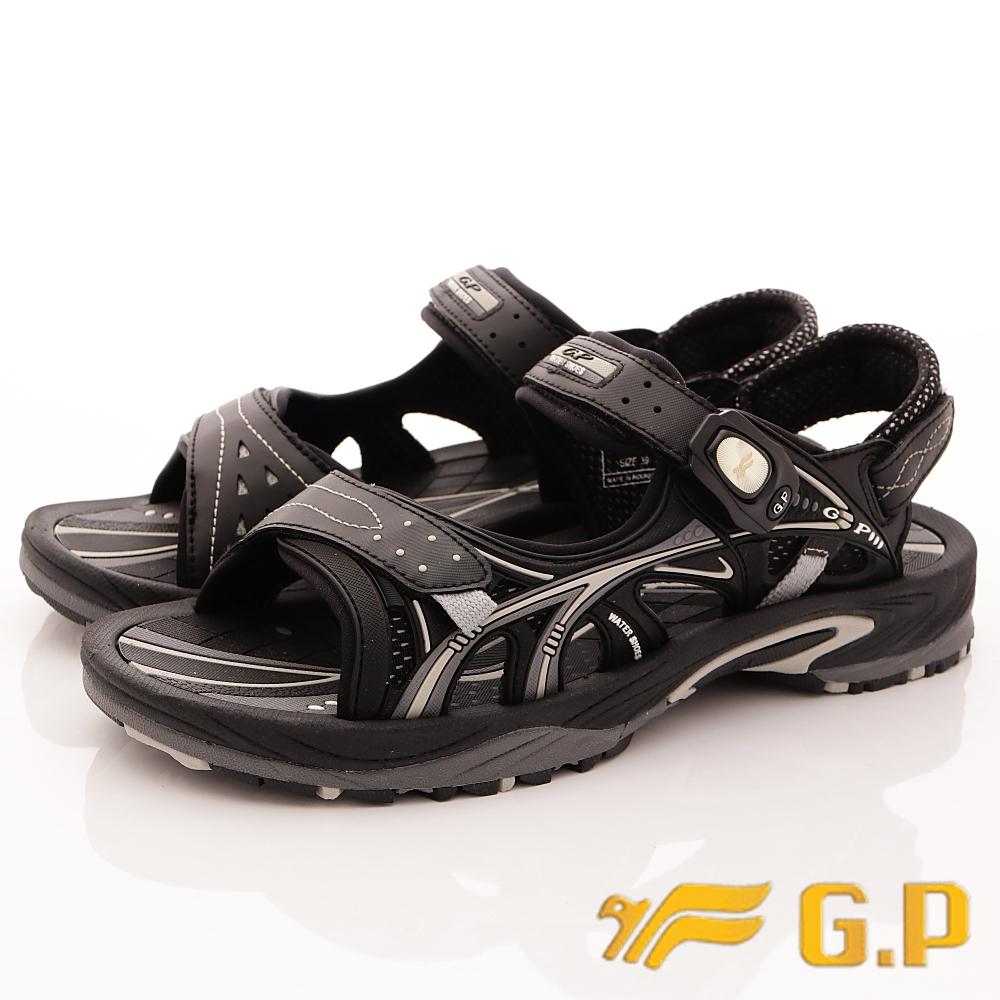 GP時尚涼拖-磁扣兩穿水涼鞋-SE624M-17黑(男段)