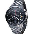梭曼 Revue Thommen 傳奇計時機械錶-黑色/44mm