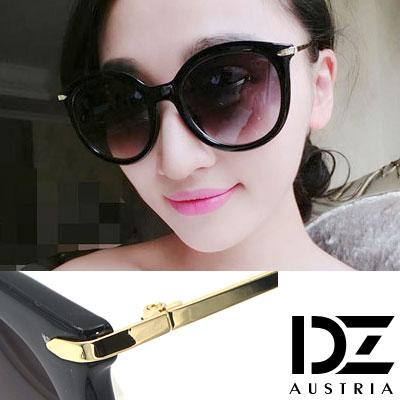 DZ 纖細線調 抗UV 太陽眼鏡墨鏡(黑框漸層灰)