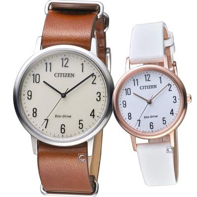 CITIZEN 星辰經典品味時尚對錶(BJ6501-28A+EM0579-14A)