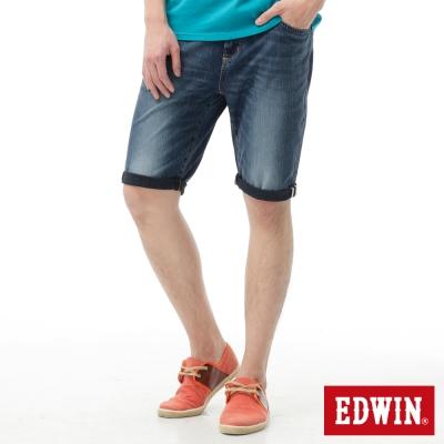 EDWIN 短褲 迦績褲JERSEYS紅布邊牛仔短褲-男-石洗綠