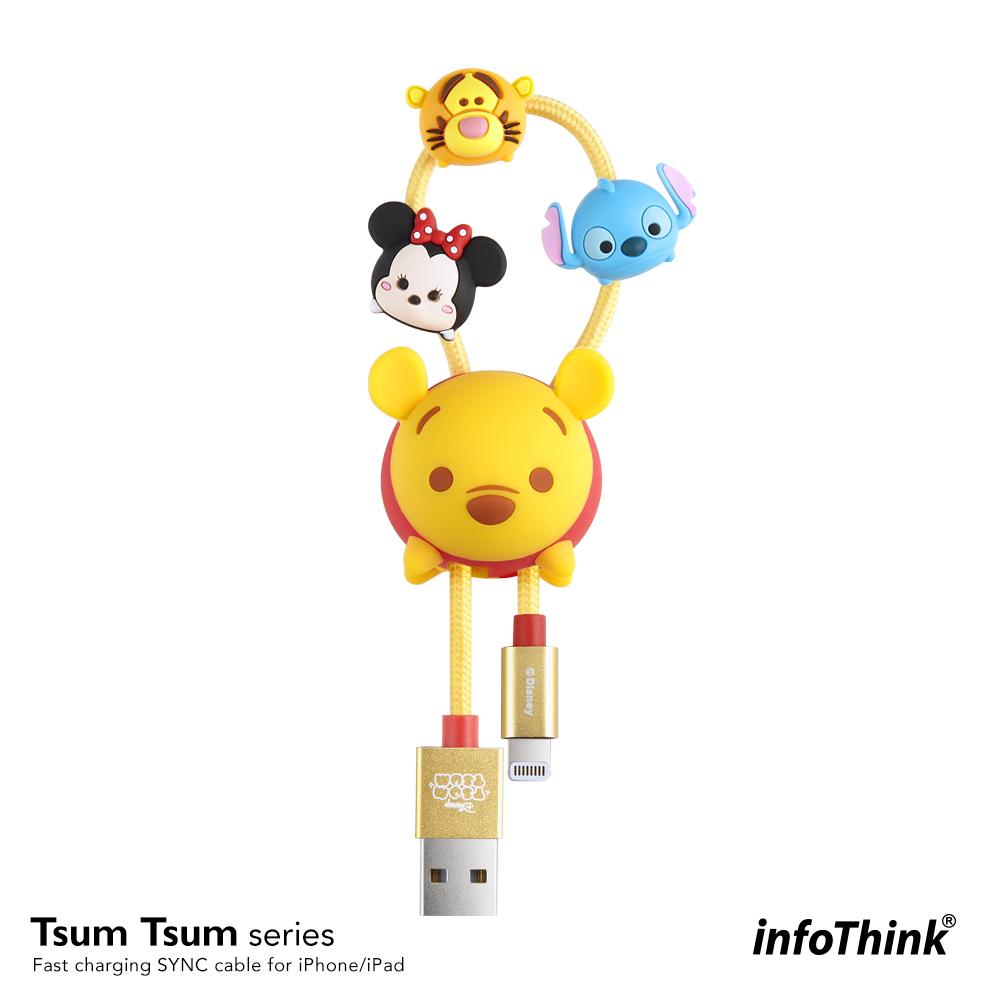 InfoThink TSUM TSUM iPhone/iPad快充傳輸線-維尼