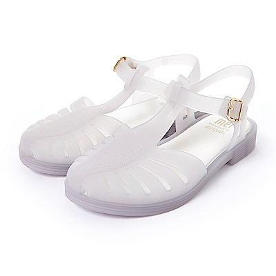 MEL復刻經典果凍鞋-童-透明白