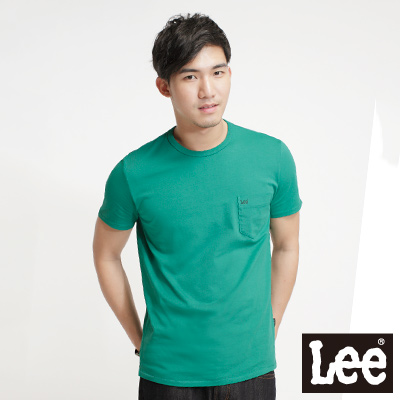 Lee-Surf-N-Roll-浪花夏日-短袖T恤-男款-綠